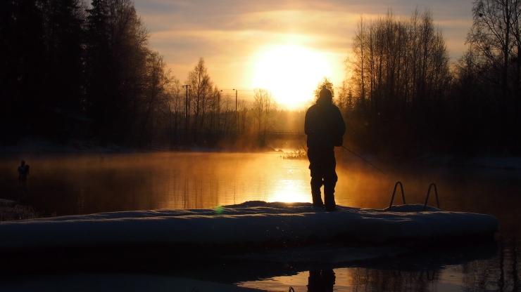 Auringonlasku, Herraskoski