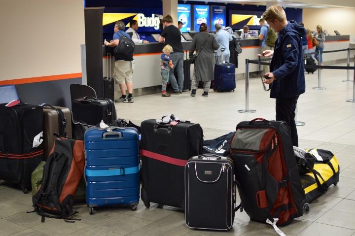 Matkatavaraa riittää kolmen viikon matkalla